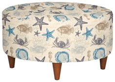 La-Z-Boy | Starfish & Seashell Fabric Upholstered Chairs & Ottomans – Beach Bliss Living - Decorating and Lifestyle Blog