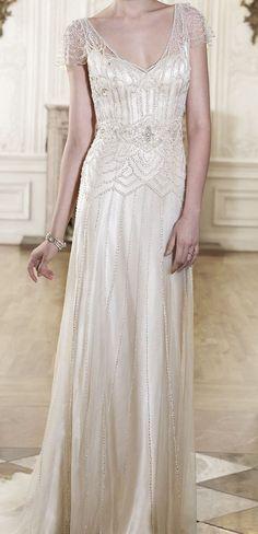Vintage inspired wedding dress.