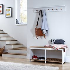 Buy John Lewis Garrick 2 Seater Shoe Bench from our Shoe Racks & Organisers range at John Lewis & Partners. Hallway Storage Bench, Bench With Storage, Built In Storage, Coat And Shoe Storage, Entryway Light Fixtures, Coat Pegs, Slatted Shelves, Stock Cabinets, Shoe Bench