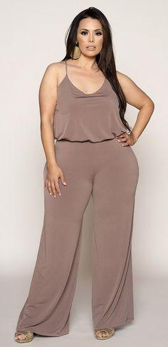 Plus Size Jumpsuit - Plus Size Fashion for Women Stylish Plus, Trendy Plus Size, Petite Outfits, Plus Size Outfits, Fit And Flare, Curvy Girl Fashion, Plus Fashion, Womens Fashion, Cheap Fashion