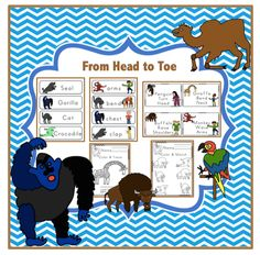 "Eric Carle ""From Head to Toe"" book activities"