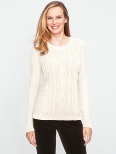 Talbots - Cable Crewneck Sweater | Misses | Misses