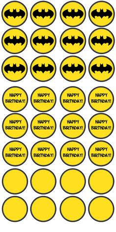 Free Printable Batman Cupcake Toppers - Printable Treats
