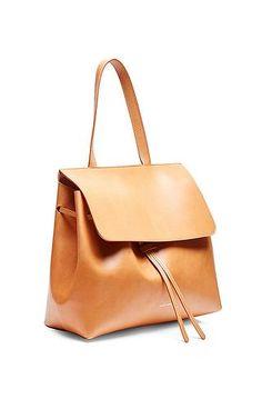 Mansur Gavriel - Vegetable Tanned Lady Bag in Cammello with Rosa ♥ purse bag Handbag Brands Tote Bags Designer bags Cross body bags hobo bags handbags shoulder bags #style #fashion #bags SHOP @ CuteHandbags.NET