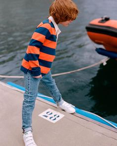 ARKET's children's jeans are combining soft and comfortable cotton with Cordura®, Coolmax® and Thermolite® yarns. The hardwearing and long-lasting fabrics are specially developed for intense activities, with extra protection against wear and tear on high-stress areas. #ARKET