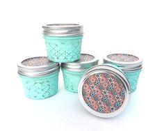 Shabby Jar Storage Canisters, Painted Mason Jar Storage Set, Shabby Chic Tea or Spice Canisters on Etsy, $25.00