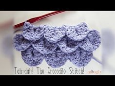 Hello everyone! Here is a video aboutHow to Crochet Crocodile Stitch...