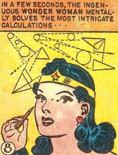 """I liked it when the Amazons were also brilliant scientists and physicians as well as athletes and warriors. (My internal editor is screaming about the difference between """"ingenuous"""" and """"ingenious"""" though.) —Wonder Woman #46 (1951) words by Robert..."""