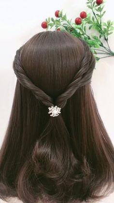 Front Hair Styles, Short Hair Styles Easy, Medium Hair Styles, Hair Style Vedio, Bridal Hair Buns, Easy Hairstyles For Medium Hair, Hair Videos, Hair Hacks, Hair Accessories