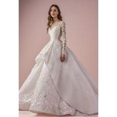 Saiid Kobeisy 2018 Wedding Dresses ❤ liked on Polyvore featuring dresses and wedding dresses