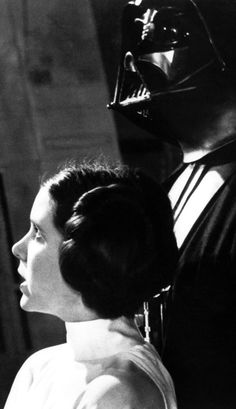 Princess Leia and Darth Vader - Star Wars Vader Star Wars, Star Wars Art, Star Trek, Darth Vader, Star Wars Brasil, Fear Leads To Anger, Han And Leia, War Film, Star War 3