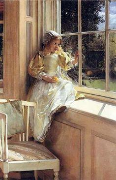 George Clausen ( English artist, 1852-1944) indulgy.com300 × 466Buscar por imagen Laura Theresa Alma-Tadema (1852 – 1909, English) Sunshine by twila Henry Gillard Glindoni . The Flower Girl - Buscar con Google