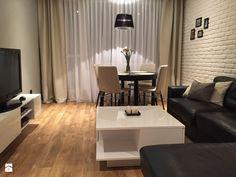 Mieszkanie 47m2 - Mały salon z jadalnią, styl minimalistyczny - zdjęcie od outt