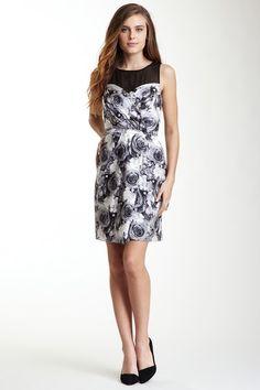 Cynthia Steffe Sleeveless Sweetheart Illusion Print Silk Dress by East Style on @HauteLook