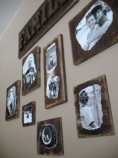 Decoupage distress wood pictures