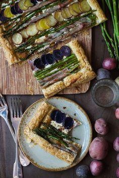 Asparagus Potato Puff Pastry Tart