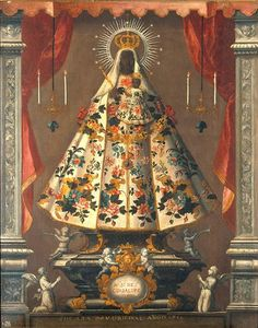 Religious Icons, Religious Art, Religious Paintings, Religious Images, Madonna Images, Mexican Paintings, Wellcome Collection, Madonna And Child, Lady Madonna