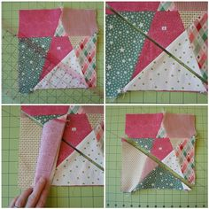 Way, way, way back I showed you a baby quilt made from wonky star blocks. I said in that post that I would someday do a tutorial on how the blocks were made. I also mentioned that I ended up using ...
