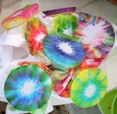 Faerie * Dust * Dreams: How to Tie Dye with Sharpie Markers! Great for children to make!