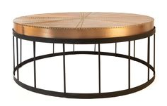 Weylandts lifestyle and furniture. Aviator copper coffee table | Australian Design Review