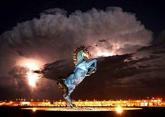 bluemustang, Blucifer hadn't even been unveiled when the bad vibes began — in 2006, Jimenez died after a section of the 9,000-pound sculpture fell on him and severed an artery in his leg.