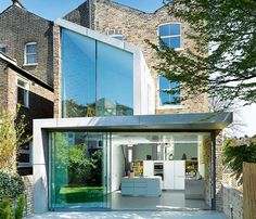 contemporary glass extension to a victorian end terrace