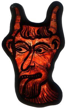 (Looks like Krampus) Glass Fragment, French, Metropolitan Museum of Art collection Medieval Stained Glass, Stained Glass Angel, Stained Glass Paint, Stained Glass Windows, Medieval World, Medieval Art, L'art Du Vitrail, Animal Symbolism, Ange Demon