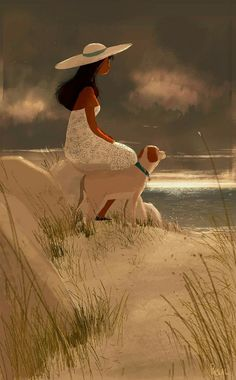 a quiet end to the day. Illustration by Pascal Campion. Illustrations, Illustration Art, Miguel Angel Garcia, Pascal Campion, American Artists, Cartoon Art, Cute Art, Art Girl, Concept Art