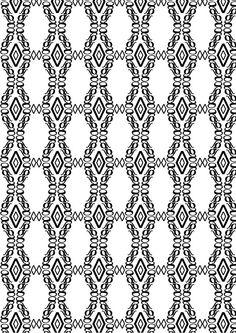 """New Caledonia Lt std, William A. Dwiggins, 1938. Pattern 2 (bn):""""elegante"""":◊,g,∫ di New Caledonia Lt std Semibold Italic. Ho deciso di utilizzare la g perchè mi sembrava una lettera molto elegante, ho usato gli altri due glifi per migliorare il mio pattern, ∫ perchè ha delle curve molto sinuose e ◊ perchè dà un effetto tridimensionale ma delicato."""