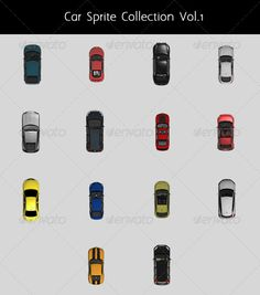 Car Top Sprite Collection Vol.1  #GraphicRiver         This collection contains 14 different types of various car: Audi,Mazda,Chevrolet and Volkswagen. All cars are in .PNG format (300×200)and can be modified as you like for type and color. Every car have a diffuse sprite and a shadow sprite separately,for a total of 28 sprites. By this way you can place the shadow where you want.  	 Lightstudio     Created: 15November12 GraphicsFilesIncluded: TransparentPNG HighResolution: No Layered: No…