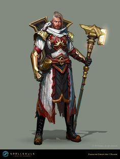 ArtStation - Spellsouls - Character Concept Art - Paladin, Nordeus games