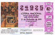 Décimo de Lotería de Navidad del año 1991 - «NAVIDAD» - NATIVIDAD. DETALLE DEL RETABLO MAYOR DE LA CATEDRAL DE SEVILLA (S. XV)