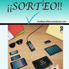 Sorteo Cargador Suaoki de 50W apto para 6 USB Power Strip, Charger, Usb, Space, Pageants, Prize Draw, Places, Floor Space, Spaces