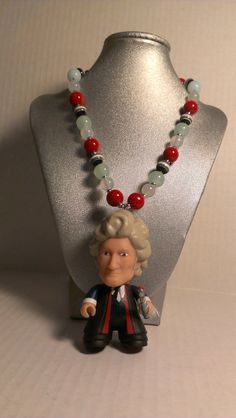 A beaded necklace featuring the 3rd Doctor - Jon Pertwee