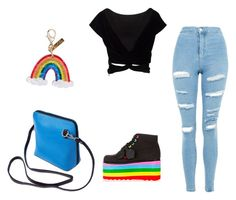 """""""teen"""" by solpaulins on Polyvore featuring Edie Parker and Topshop"""