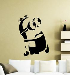 Minion Wall Sticker Cartoon Video Game Vinyl Decal Home Nursery Room Interior Decor Waterproof High