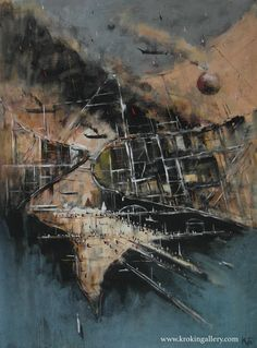 "Konstantin Batynkov ""Cartography"", acryl on vinyl paper, Vinyl Paper, Russian Art, Cartography, Moscow, Maps, Contemporary Art, Art Gallery, Sea, Artist"