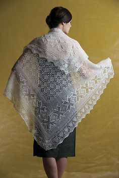 Crown Prince Square Shawl pattern by Nancy Bush. Square shawl, I have this pattern