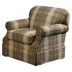 Tartan Arm Chair With A Kiln Dried Wood Frame And Dacron Wrapped Foam  Cushioning