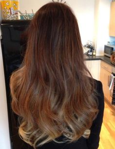 Lucy Watson ombre hair by Mikey Kardashian