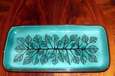 Rörstrand Lergods Fat: Linda. 50´talet. Pottery Ideas, 50th, Ceramics, Colour, Mugs, My Favorite Things, Blue, Design, Ceramica