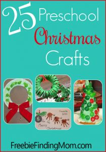 25 Preschool Christmas Crafts the kids will love! Get crafty with your preschooler this season! FreebieFindingMom.Com. #Christmas #kidstuff