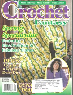 Crochet-Fantasy-Magazine-Pattern-Book-May-1998-Spring-Afghan-Florals-Doilies