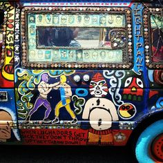 Cool car from the Art Car Parade. photo by @breakawaybackpacker