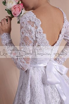 Plus Size   short wedding lace dresses / white /  long sleeves Bridal Gown by UpToDateFashion on Etsy https://www.etsy.com/listing/215290743/plus-size-short-wedding-lace-dresses
