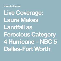 Live Coverage: Laura Makes Landfall as Ferocious Category 4 Hurricane – NBC 5 Dallas-Fort Worth Hurricane Rita, Texas Weather, Category 4, Rain Fly, Port Arthur, Storm Surge, Energy Industry, Lake Charles