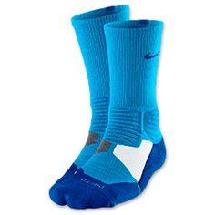 Men's Nike Hyper Elite Basketball Socks| FinishLine.com | Blue Hero/Game Royal