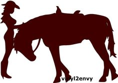 Cow Girl and Horse Vinyl Car Letter Car Window Decal by Animals Car Window Decals, Car Decals, Vinyl Wall Decals, Horse Silhouette, Topper, Laptop Decal, Vinyl Lettering, Vinyl Designs, Cow Girl