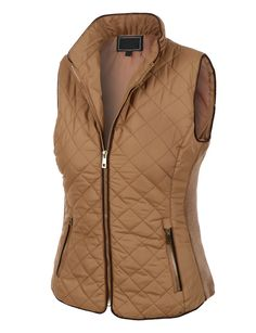 This quilted fully lined zip up puffer jacket vest is the ideal piece for all year round. This item is a must have! The gold detail zippers give this vest a unique look that will make you look fabulou
