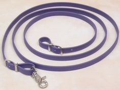 Roper Style Reins, 1 snaps - 3/4 Inch Purple by Big Black Horse. $18.99. Roper Style Reins, has 1 snaps made in 3/4 Inch Beta. Reins are 8 feet long with 1 scissor snap. Reins have stainless steel hardware that is rust resistant. Great for trail or endurance riding.  Reins are made from beta or biothane. Beta is a synthetic leather. It has the look and feel of leather, but is stronger and easier to care for. All you need to do is wipe it down with a little soap and water. You c...